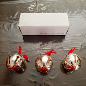 Vintage Silver Bell Ornament Set